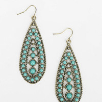 Turquoise Teardrop Earring - Urban Outfitters