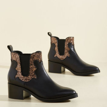 Watch Sparkles Fly Leather Bootie | Mod Retro Vintage Boots | ModCloth.com