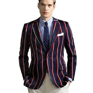 The Great Gatsby Collection Red, White and Navy Stripe Regatta Blazer - Brooks Brothers