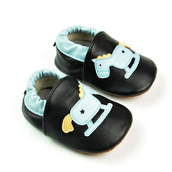 Leather Handcrafts Environmental Baby Anti-skid Shoes [4920570884]