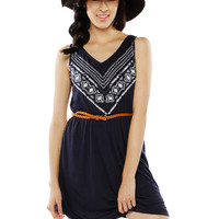 Papaya Clothing Online :: DAILY EMBROIDERY WAIST BAND BEADED DRESS