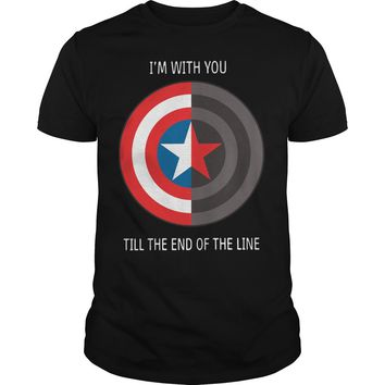 Captain America shield I with you till the end of the line shirt Guys Tee