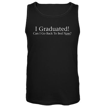 I Graduated! Black Tank Top
