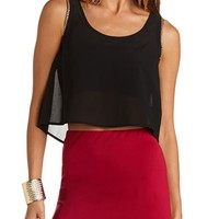 Bow-Back Chain Detail Crop Top: Charlotte Russe
