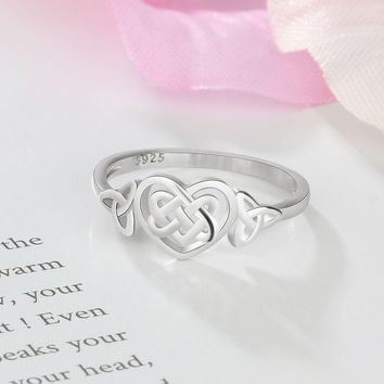 Heart Woven Design 925 Sterling Silver Ring