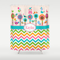 CUSTOM Kids Shower Curtain,Choose Colors/Fonts/Tag,Add Monogram/Name,Multiple colors,Unique Bathroom Decor,Standard Size/XL,Printed in USA