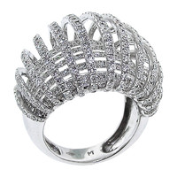 Exquisite Ribbon Diamond Ring