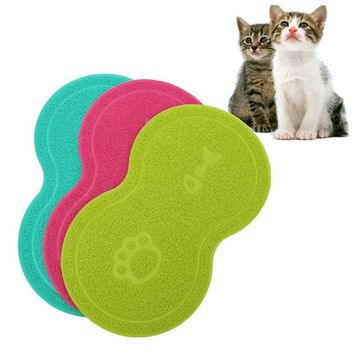 Pet Puppy Cat Feeding Mat Pad PVC Waterproof non-slip mats Placemat Pet Supplies Free Shipping R035