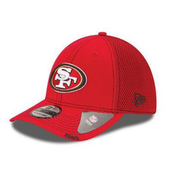 San Francisco 49ers New Era Neo NFL 39THIRTY Stretch Cap Flex Mesh Back Hat 3930