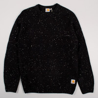 Carhartt Anglistic Sweater - Black Heather at Arkive Clothing