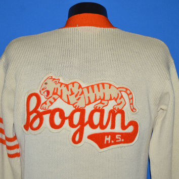 50s Bogan High School Letterman Sweater Medium