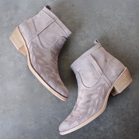 embroidered desert ankle boots - taupe