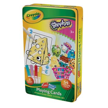Shopkins Color Your Own Cards & Tin Set by Crayola
