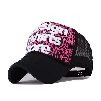 2017 Spring Summer New Hip-pop Personality Letter Graffiti Casual Sport Snapback Baesball Caps For Women