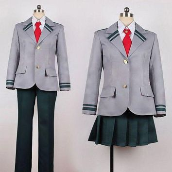 DCCKH6B Boku no Hero Academia  Midoriya Izuku Bakugou Katsuki Gray My Hero Academia School Uniform Cosplay Costume