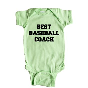 Best Baseball Coach  Baby Onesuit