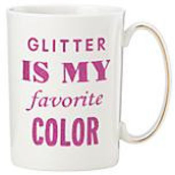 kate spade new york Simply Sparkling Glitter is My Favorite Color Mug by Lenox