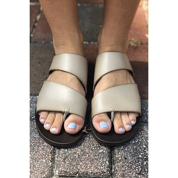 Ten Toes Down Sandal - Taupe