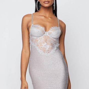 Sensational Sparkle Bustier Bodycon Mini Dress