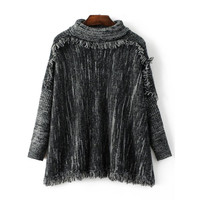 Heater Fringe Chunky Sweater