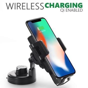 New Vehicle Dock Wireless Car Charger Phone Mount Charging For Iphone 8/8 Plus/X CE/FCC Certification Black high quality