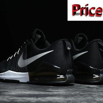 Official Nike Mens Zoom Train Action Cross Trainer 2017 Black Metallic Silver shoes