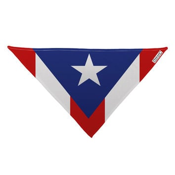 "Puerto Rico Flag AOP Dog Bandana 26"" All Over Print"