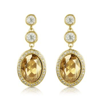 AZ Collection Designer Earrings Triple Drop Earrings