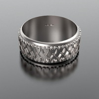 For her or him – unisex Wedding Band. | Vidar Jewelry - Unique Custom Engagement And Wedding Rings