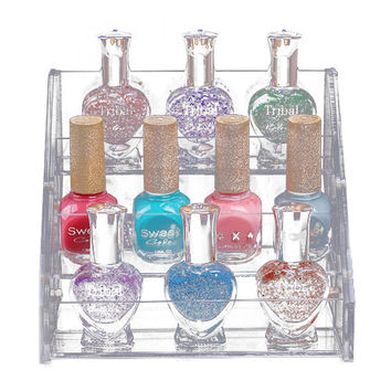 3 Tier Acrylic Nail Polish Cosmetic Orgainizer Display Stand Makeup Container Removable