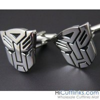 Silver Transformer Autobot Cufflinks - Superheros - Novelty Cufflinks
