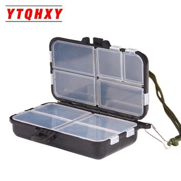 YTQHXY 9 Compartments Fishing Tackle Box Fly Fishing Lure Spoon Hook Bait Fishing Accessories YE-227