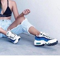 Kalete NIKE Air max  Sneakers Running Sports Shoes white-blue  H-CSXY