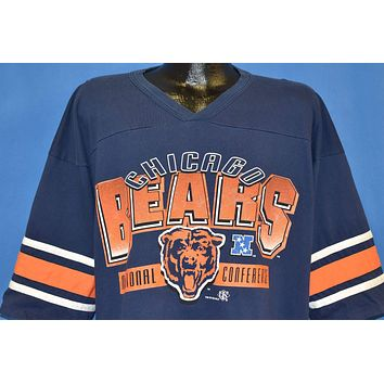90s Chicago Bears V-Neck Jersey t-shirt Extra Large
