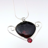 Artisan Eudialyte in Sterling Silver Necklace