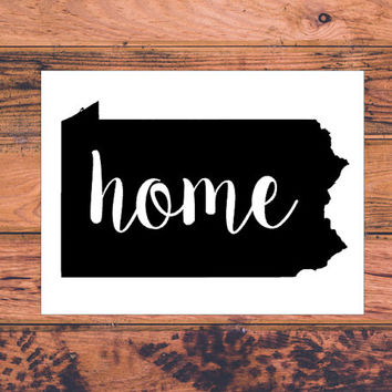 Pennsylvania Home Decal | Pennsylvania Decal | Homestate Decals | Love Sticker | Love Decal  | Car Decal | Car Stickers | 130