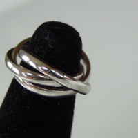Stamped 925 Sterling Silver Triple Stacking Rings