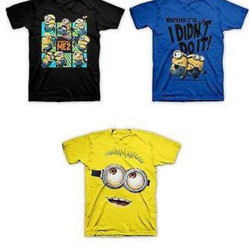 Despicable Me 2 Minion YOUTH Kids T-Shirt Dave, Carl Officially Licensed
