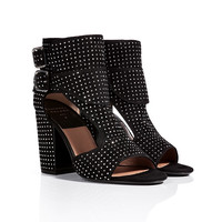 Laurence Dacade - Studded Suede Open Toe Sandals