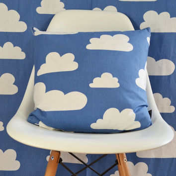Swedish Scandinavian Farg & Form Kids Clouds Cloud fabric - Per metre - Blue Clouds