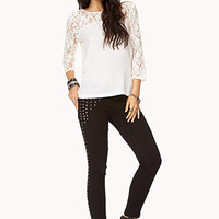 Georgette & Lace Top