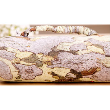 "Cushion Bolster Pillow Wood Log Tree Stump Design 28 11"" x 8  3.15"""