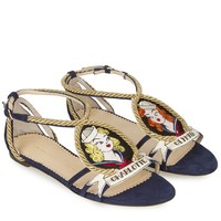"Charlotte Olympia - ""Ahoy Sailor"" Sandals (Navy)"