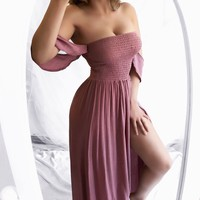 LARGE - Easy Breezy Sun Dress (MAUVE)