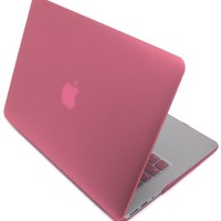 """Bastex - Hard Pink Shell Snap On Case Cover + Matching Keyboard Skin Exclusively for MacBook Air 11"""" Models A1370 / A1465"""