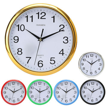 2016 NewLarge Modern Design Vintage Round Modern Home Bedroom Retro Time Kitchen Wall Clock Quartz with Six Colors