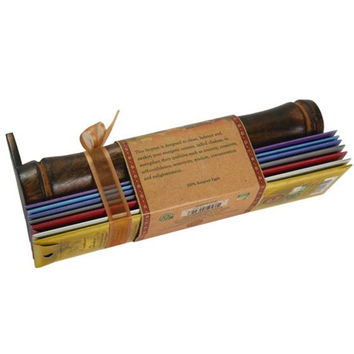 Incense Gift Set - Bamboo Burner + 7 chakra incense stick & Greeting: May Love, Light, Peace & ... Always