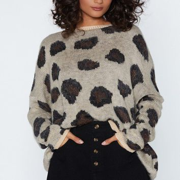 You Drive Me Wild Leopard Sweater