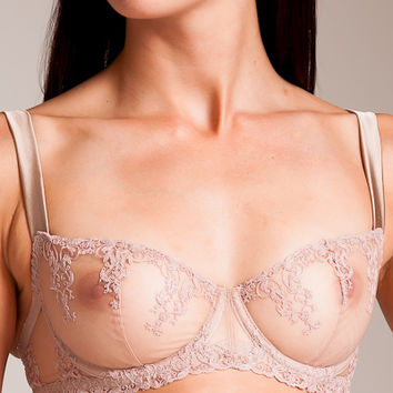 Fleur of England: Champagne Balcony Bra at Nancy Meyer