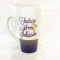 Future Mrs * Personalized Tumbler * Personalized Mug * Custom Coffee Mug * Bride Mug * Coffee Tea Mug Cup * Bride to be * Bride Gift